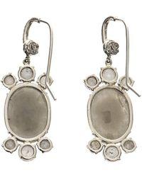 NSR Nina Runsdorf - Diamond Whitegold Earrings - Lyst