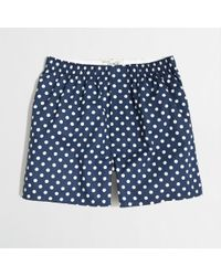 J.Crew Factory Blue Dot Boxers - Lyst