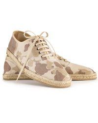 Ralph Lauren Camo Shoreham Sneaker - Lyst