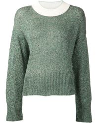 3.1 Phillip Lim Contrast Neck Pullover Sweater - Lyst
