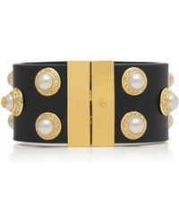 Tory Burch Natalie Leather Bracelet - Lyst