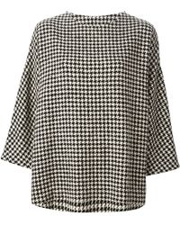 Arts & Science - Houndstooth Print Sweater - Lyst