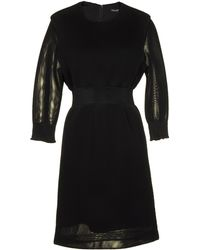 Theyskens' Theory Knee-Length Dress black - Lyst