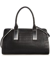 Calvin Klein Sanremo Leather Satchel - Lyst