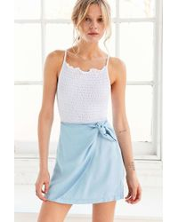 Kimchi Blue | Cassidy Chambray Wrap Skirt | Lyst