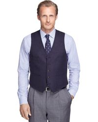 Brooks Brothers Wool Vest - Lyst