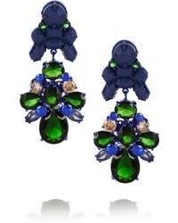 EK Thongprasert - Silverplated Silicone and Cubic Zirconia Earrings - Lyst