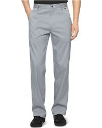 Calvin Klein Core Flat-Front Stretch Twill Pants gray - Lyst