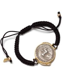 Coomi - Antiquity 20k Coin Braided Bracelet with Diamonds - Lyst