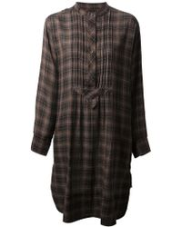 Etoile Isabel Marant Ilaria Checked Shirt Dress - Lyst