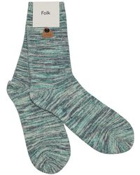 Folk Peppermint Green Melange Socks green - Lyst