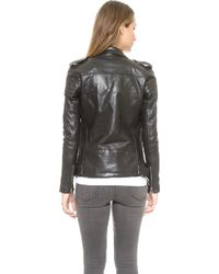 BLK DNM Motorcycle Jacket With Quilted Stripes - Black - Lyst