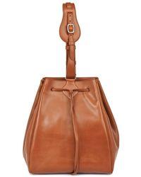 Myriam Schaefer Dino Leather Bucket Bag - Lyst
