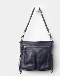 MZ Wallace Navy Leather Sophie blue - Lyst