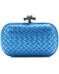 Bottega Veneta Knot Leather Clutch - Lyst