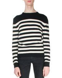 Saint Laurent | Striped Cashmere Sweater | Lyst
