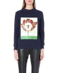 Self-Portrait - Opium Poppy Jersey Sweatshirt - For Women - Lyst