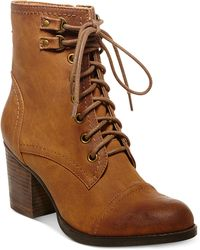 Madden Girl Westmont Chunky Heel Booties - Lyst