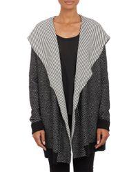 Barneys New York Chevronknit Hooded Sweater Coat - Lyst