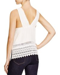 Lush - Ivory Lace Tank - Bloomingdale's Exclusive - Lyst