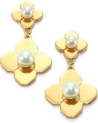 Tory Burch Babylon Faux Pearl Drop Earrings - Lyst