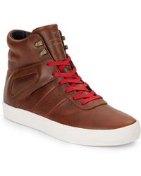 Creative Recreation Moretti Leather High Top Sneakers brown - Lyst