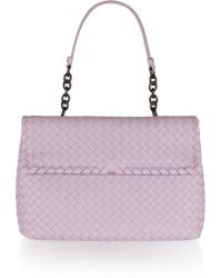 Bottega Veneta Olimpia Intrecciato Leather Shoulder Bag - Lyst