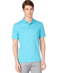 Calvin Klein Liquid Cotton Striped Polo - Lyst