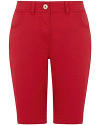 Dash Red Cotton Twill City Short - Lyst