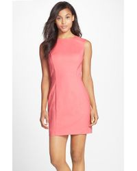 French Connection Cotton Blend Sleeveless Body-Con Dress - Lyst