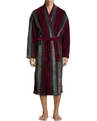 Ike Behar Terry Cloth Striped Robe - Lyst
