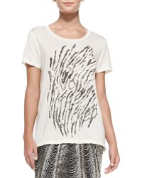 Haute Hippie Morning After Jersey Graphic Tee - Lyst