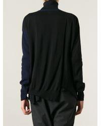Stella McCartney Blue Bicolour Sweater - Lyst