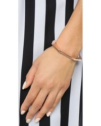 Giles & Brother - Skinny Hex Cuff Bracelet - Rose Gold - Lyst