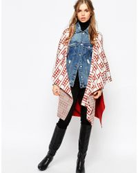 First & I - Knitted Cape Jacket - Lyst