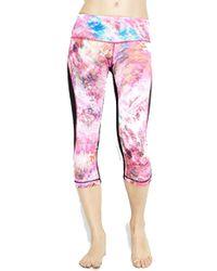 Vimmia Printed Endurance Capri Legging In Blitz & Black multicolor - Lyst