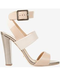 Sergio Rossi Ankle Strap Thick Heel Sandal - Lyst