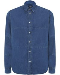 Paul Smith Denim Piececonstructed Shirt - Lyst