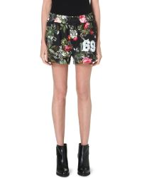 Vivienne Westwood Anglomania Floral-print Cotton Shorts - Lyst
