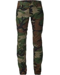 Harvey Faircloth - Camouflage Slim Fit Jeans - Lyst