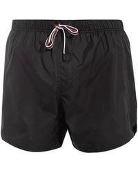 Gucci Contrast-Drawstring Swim Shorts black - Lyst