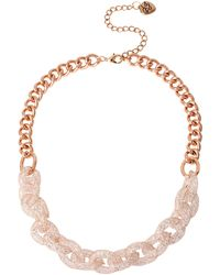Betsey Johnson Sparkle Chain-Link Necklace - Lyst