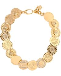 Versace Coins Necklace - Lyst