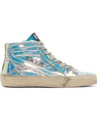 Golden Goose Deluxe Brand Iridescent Slide High_Top Sneakers - Lyst