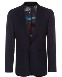 Paul Smith | Men's Navy Wool And Mohair-blend Buggy Lined Blazer | Lyst