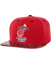 Mitchell & Ness The Miami Heat Court Vision Snapback - Lyst