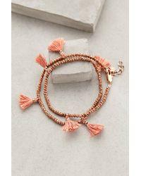 Shashi Fluttered Tassel Wrap Bracelet - Lyst