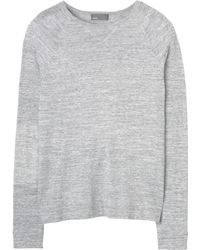 Vince Heather White Cashmere Blend Crew Neck Sweater - Lyst
