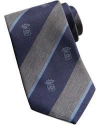 Gucci Crest Striped Silk Tie - Lyst