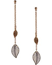 Asos Feather Drop Earrings - Lyst